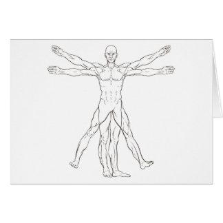 Da Vinci Style Vitruvian Man Card