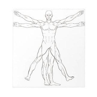 Da Vinci Style Vitruvian Man Notepads