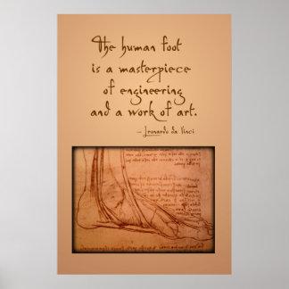 "da Vinci: ""The human foot is..."" Poster"