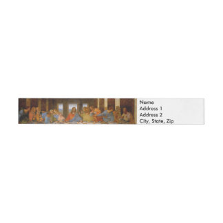 Da Vinci The Last Supper Wraparound Address Label
