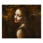 Da Vinci Virgin of the Rocks Angel Poster