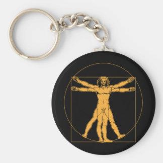 Da Vinci Vitruvian Man Keychain