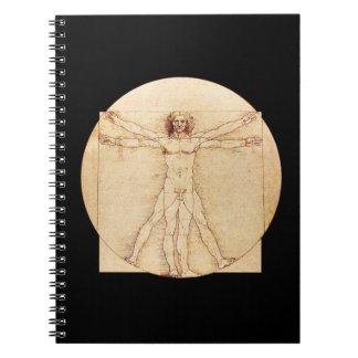 Da Vinci Vitruvian Man Spiral Notebook
