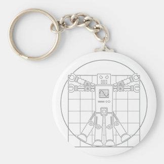 Da Vinci Vitruvian Robot Key Chains