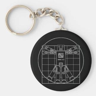 Da Vinci Vitruvian Robot Keychain