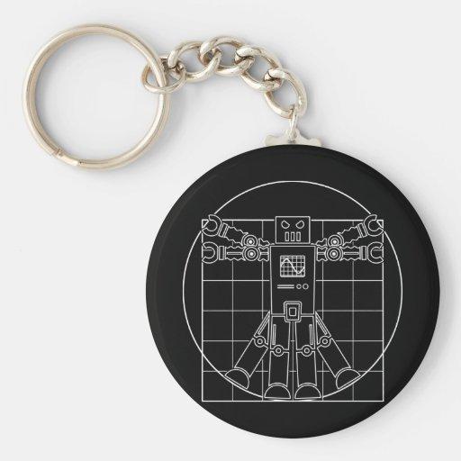 Da Vinci Vitruvian Robot Key Chain
