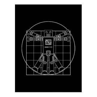 Da Vinci Vitruvian Robot Post Card