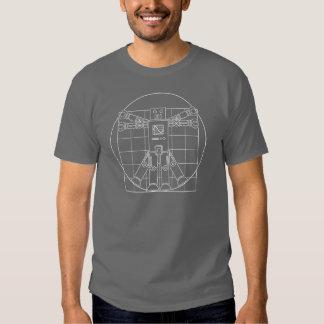 Da Vinci Vitruvian Robot T-shirts