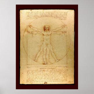 Da Vinci's Cosmic Man Poster