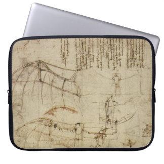 Da Vinci's Flying Contraption Laptop Sleeve