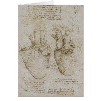 Da Vinci's Human Heart Anatomy Sketches Card