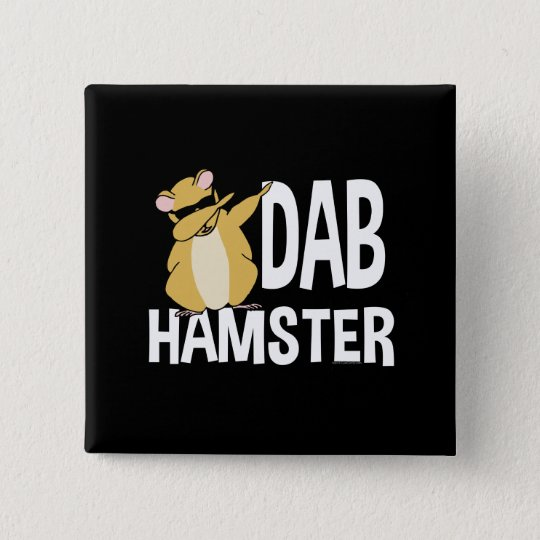 Dab Hamster Funny Cute Dabbing Animal Dance 2 Inch Square Button