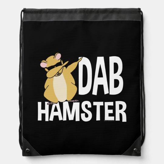 Dab Hamster Funny Cute Dabbing Animal Dance Drawstring Bag
