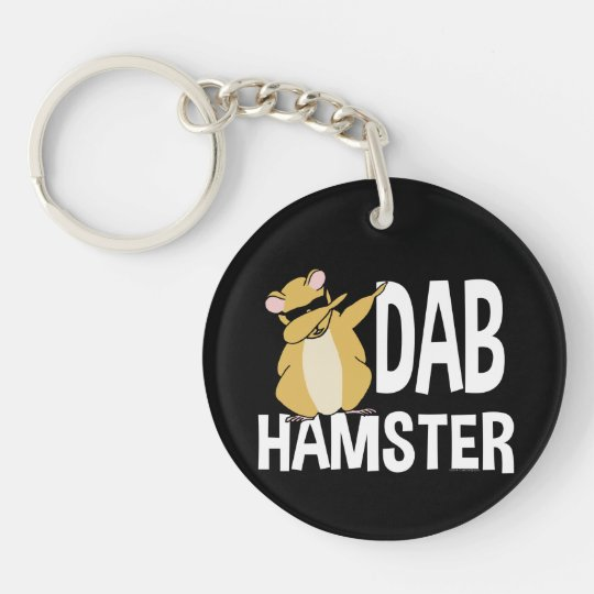 Dab Hamster Funny Cute Dabbing Animal Dance Keychain
