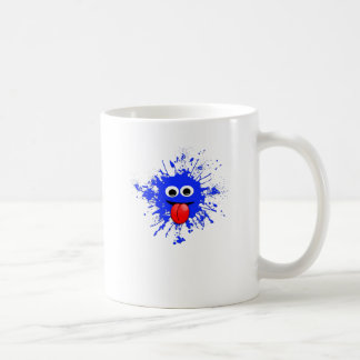 Dab in Blue Splatter Design Coffee Mug