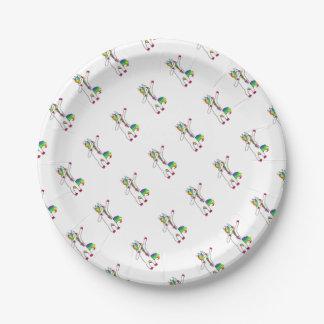 Dab unicorn 7 inch paper plate