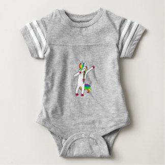 Dab unicorn baby bodysuit
