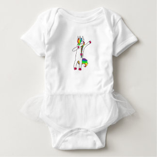 Dab unicorn baby bodysuit