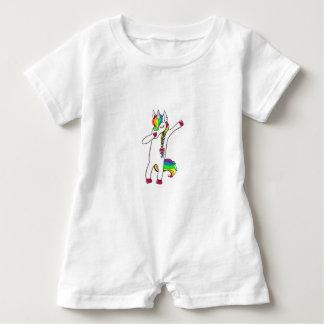 Dab unicorn baby romper