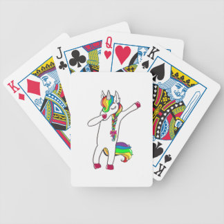 Dab unicorn bicycle playing cards