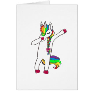 Dab unicorn card