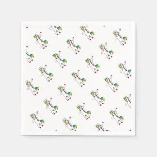 Dab unicorn disposable napkin