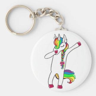 Dab unicorn keychain