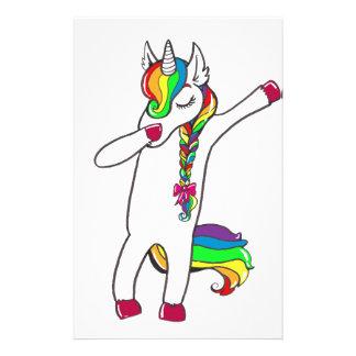 Dab unicorn stationery