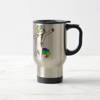 Dab unicorn travel mug