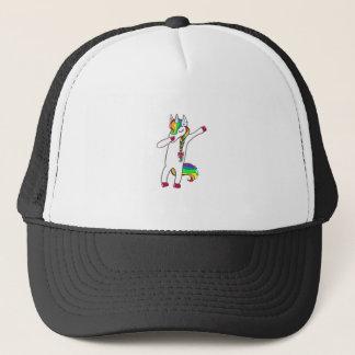 Dab unicorn trucker hat