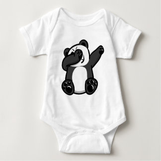 Dabbing Animals Panda Baby Bodysuit
