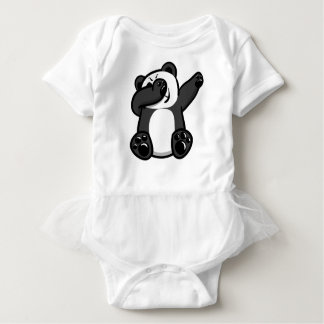 Dabbing Animals Panda Baby Bodysuit