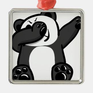 Dabbing Animals Panda Metal Ornament