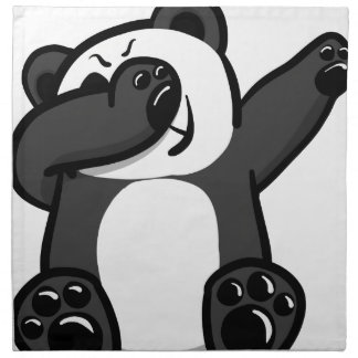 Dabbing Animals Panda Napkin
