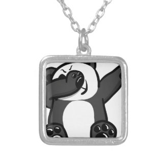 Dabbing Animals Panda Silver Plated Necklace