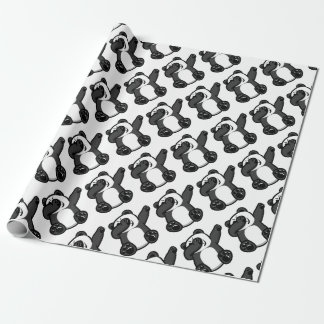 Dabbing Animals Panda Wrapping Paper