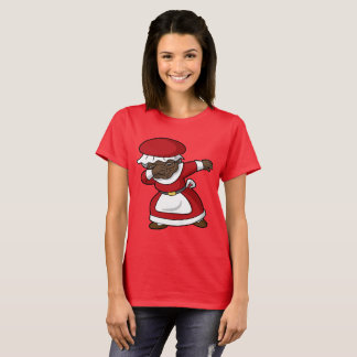 Dabbing Black Mrs Claus Christmas Dab T-Shirt
