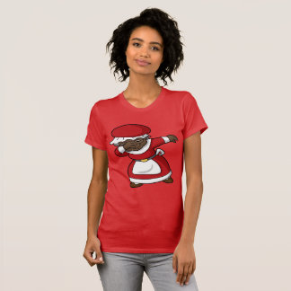 Dabbing Black Mrs Claus Christmas Dab T-Shirt