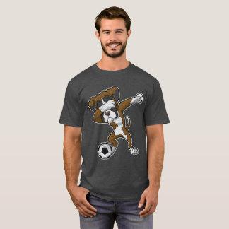 Dabbing Boxer Dog Dab Soccer T-Shirt