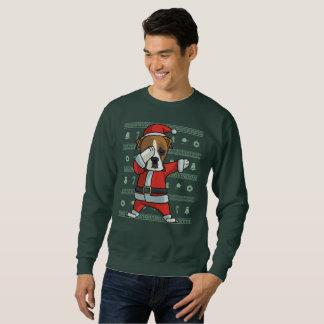 Dabbing Boxer dog T-Shirt Christmas Dab Dance