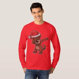Dabbing Christmas Dog Dab T-Shirt