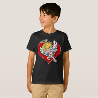 Dabbing Cupid Valentine's Day Heart T-Shirt