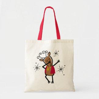 Dabbing Dancer Reindeer Tote Bag