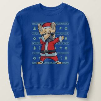 Dabbing French Dog T-Shirt Christmas Dab Dance