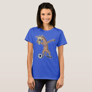 Dabbing Giraffe Soccer Dab T-Shirt