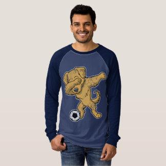 Dabbing Golden Retriever Dog Soccer Dab T-Shirt