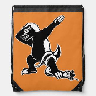 Dabbing Honey badger Drawstring Bag
