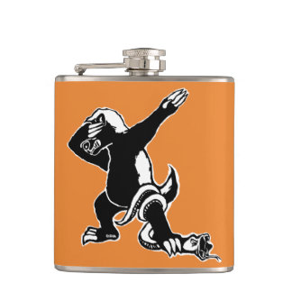 Dabbing Honey badger Hip Flask
