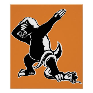 Dabbing Honey badger Poster