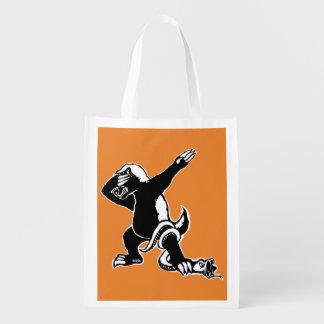 Dabbing Honey badger Reusable Grocery Bag